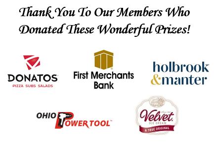 Raffle prize sponsors